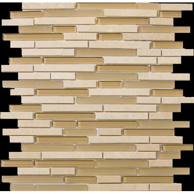 Lucente Random Sized Stone and Glass Linear Mosaic Blend in Murano