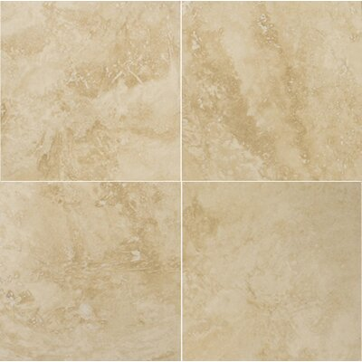 "Emser Tile Natural Stone 18"" x 18"" Crosscut Travertine Tile in Umbria Savera"