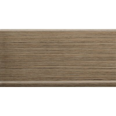 "Emser Tile Strands 12"" x 6"" Horizontal Cove Base Tile Trim in Chestnut"