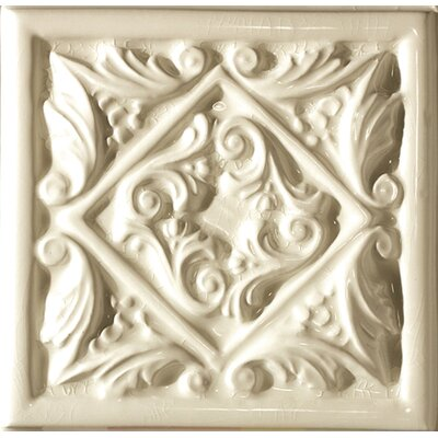 "Emser Tile Cape Cod 6"" x 6"" Seashore Accent Tile in Artisan Cream Crackle"