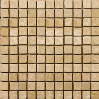 "Emser Tile Natural Stone 1/2"" x 1/2"" Polished Marble Mosaic in Emperador Light"