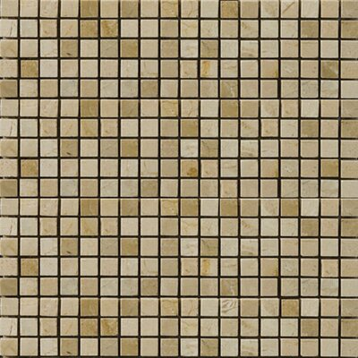 "Emser Tile Natural Stone 1/2"" x 1/2"" Polished Marble Mosaic in Crema Marfil"