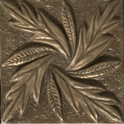 "Emser Tile Renaissance 2"" x 2"" Reggio Insert Tile in Antique Bronze"