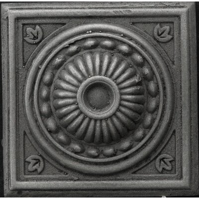 "Emser Tile Renaissance 2"" x 2"" Pompei Insert Tile in Antique Nickel"