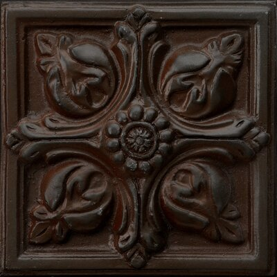 "Emser Tile Renaissance 4"" x 4"" Toscana Accent Tile in Rust Iron"