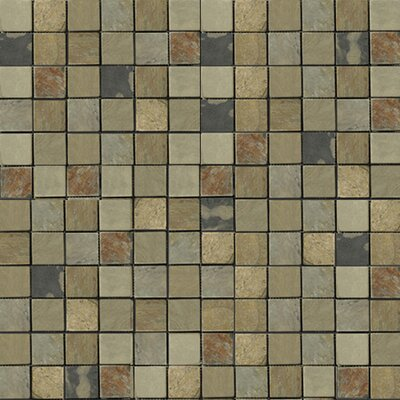 "Emser Tile Natural Stone 1"" x 1"" Slate Mosaic in Autumn Lilac"
