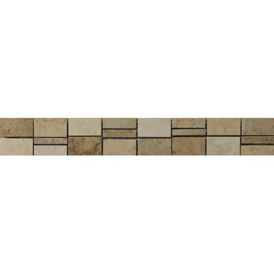 "Emser Tile Odyssey 13"" x 2"" Listello in Multicolor"
