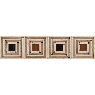 "Emser Tile Natural Stone 12"" x 3"" Foggia Travertine Listello"