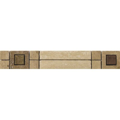 "Emser Tile Natural Stone 12"" x 2"" Scala Travertine Listello"