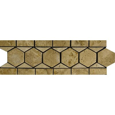 "Emser Tile Natural Stone 12"" x 4"" Napoli Travertine Listello"