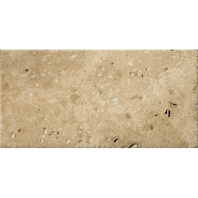 "Emser Tile Natural Stone 8"" x 16"" Chiseled Travertine Field Tile in Umbia Bruno"