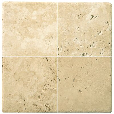 "Emser Tile Natural Stone 1"" x 1"" Travertine Mosaic in Ancient Beige"