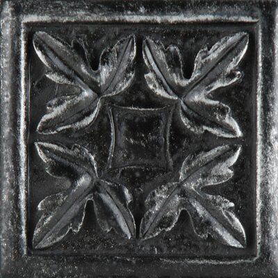 "Emser Tile Camelot 2"" x 2"" Arthur Dot in Iron"