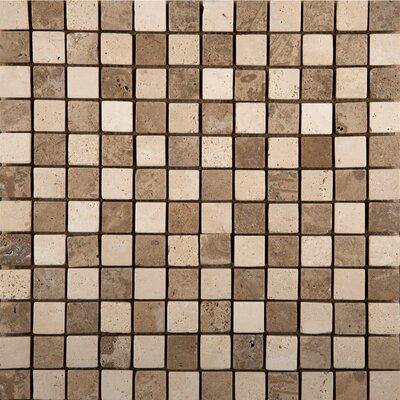 Emser Tile Natural Stone Random Sized Travertine Mini Versailles Mosaic in Beige / Mocha