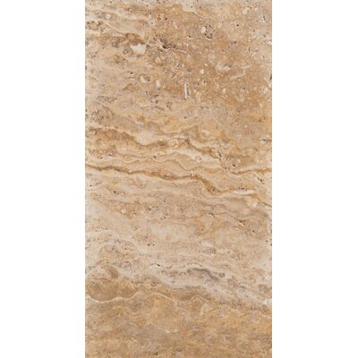 "Emser Tile Natural Stone 16"" x 8"" Chiseled Travertine Field Tile in Scabos"