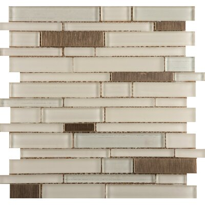 Emser Tile Flash Random Sized Glass Mosaic in Beaming