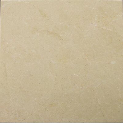 "Emser Tile Crema Marfil 18"" x 18"" Polished/Honed Marble Tile in Crema Marfil"