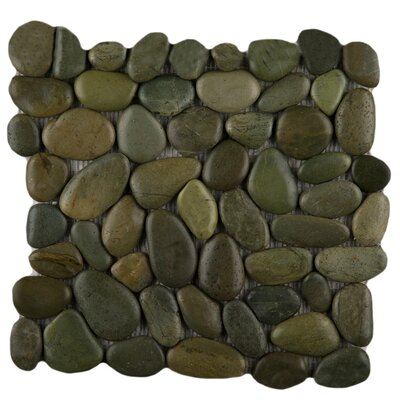 "Emser Tile Rivera 12"" x 12"" Pebble Mosaic in Olive"