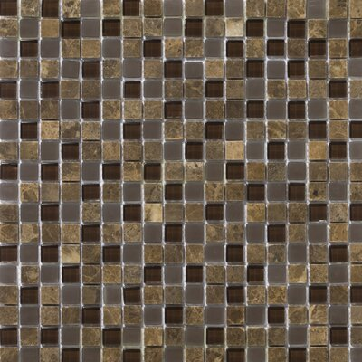 Emser Tile Lucente Stone and Glass Mosaic Blend in Vetro