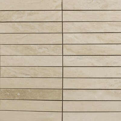 "Emser Tile Natural Stone 12"" x 12"" Vein Cut Travertine Mosaic in Dore Select"