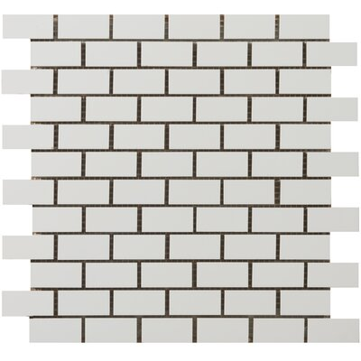 "Emser Tile Classica 2"" x 1"" Brick-Joint Mosaic in White"