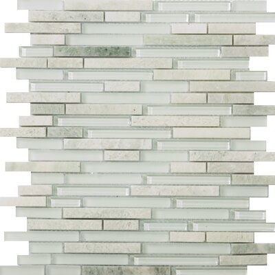 Lucente Random Sized Glossy Glass Mosaic in Lazzaro Linear