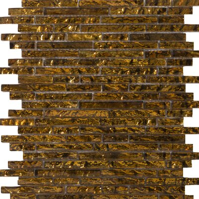 Emser Tile Vista Random Sized Glass Mosaic in Venini Linear