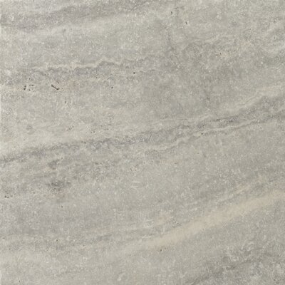 "Emser Tile Natural Stone 16"" x 16"" Tumbled Travertine Tile in Silver"