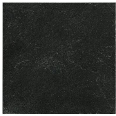 """Emser Tile Natural Stone 16"""" x 16"""" Calibrated Slate Field Tile in Midnight Black"""