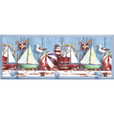 Illumalite Designs Ships Wall Plaque with Wooden Pegs