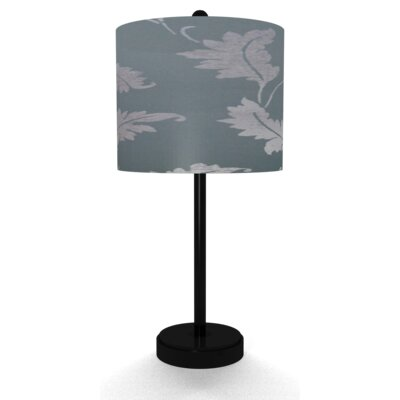 Illumalite Designs Grey Leaves Table Lamp
