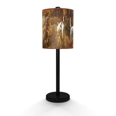 Illumalite Designs Hunting Spaniels Table Lamp