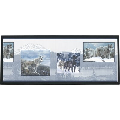 Wolf Pack Wall Graphic Art on Plaque