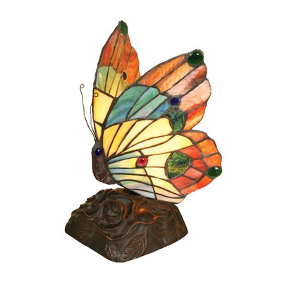 Chloe Lighting Tiffany Style Butterfly Accent Table Lamp