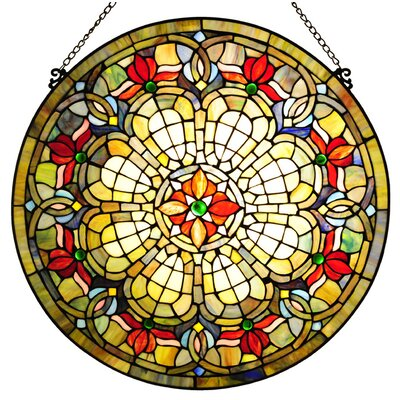Tiffany Style Baroque Window Panel