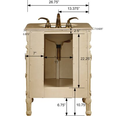 "Silkroad Exclusive Gloucester 26"" Single Bathroom Vanity Set"