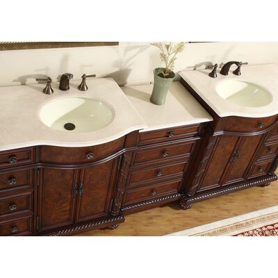 "Silkroad Exclusive 90"" Butler Double Bathroom Vanity Set"