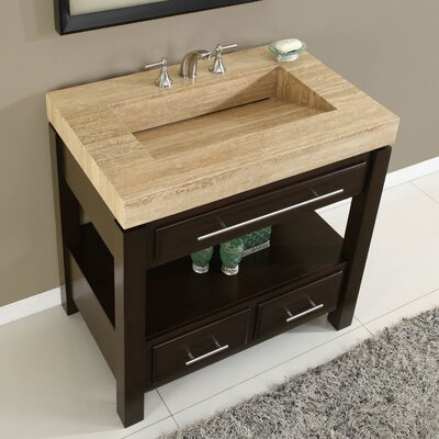 "Silkroad Exclusive Chester 36"" Single Bathroom Vanity Set"