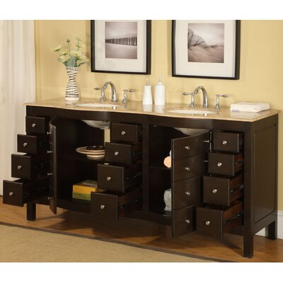 Silkroad exclusive lancaster 72 double bathroom vanity for Bathroom 72 double vanity