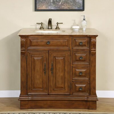 "Silkroad Exclusive Charlotte 38"" Single Bathroom Vanity Set"