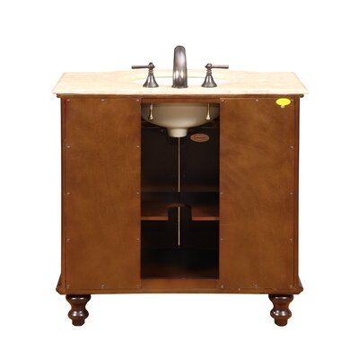 "Silkroad Exclusive Warren 36"" Single Bathroom Vanity Set"