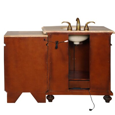 "Silkroad Exclusive Victoria 52"" Single Sink Bathroom Vanity Set"