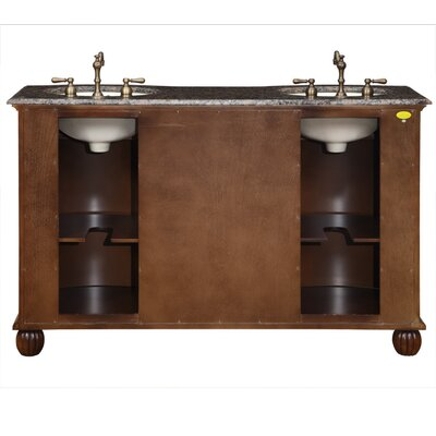 "Silkroad Exclusive 58"" Franklin Double Bathroom Vanity"