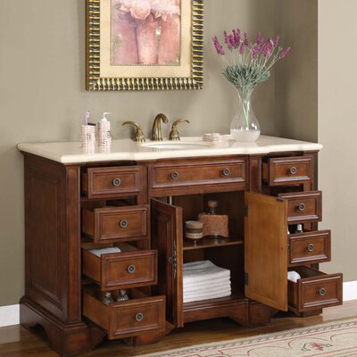 "Silkroad Exclusive Sabina 58"" Single Sink Bathroom Vanity Set"