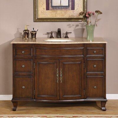 "Silkroad Exclusive Ostia 48"" Single Sink Bathroom Vanity Set"