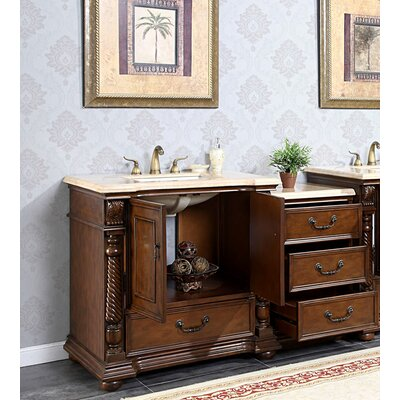 Silkroad Exclusive Bravia 57 Single Sink Cabinet Bathroom