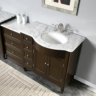 silkroad exclusive kelston 58 single bathroom vanity set