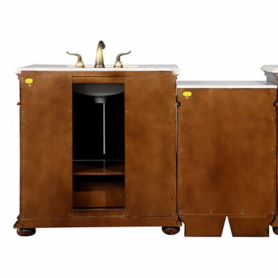 "Silkroad Exclusive Bravia 57"" Single Sink Cabinet Bathroom Vanity Set"