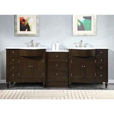 exclusive kelston 95 double sink cabinet bathroom vanity