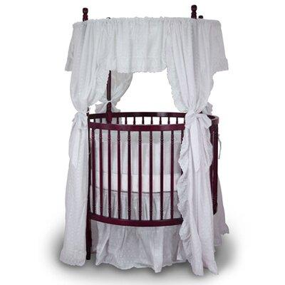 Fixed Side Round Crib and Mattress Set